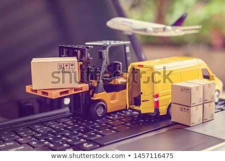 Fragile livraison Ouvrir la boîte bande affaires Photo stock © Kurhan