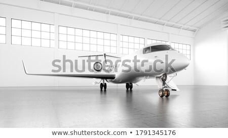 sunrise inside the cabin of a modern aircraft Stock photo © meinzahn