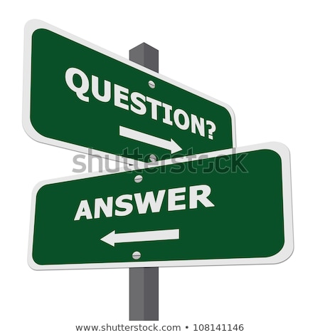 question sign and question words in hexagons Stock photo © marinini