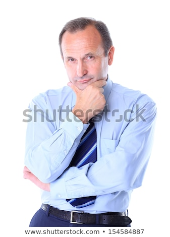Thoughtful frowning businessman Stock photo © smithore