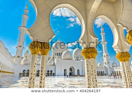 Абу-Даби · белый · мечети · небе · религии · арабских - Сток-фото © bloodua