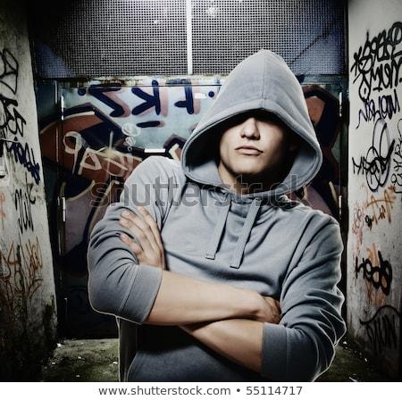 anarquía · graffiti · símbolo · gris · metal - foto stock © nejron