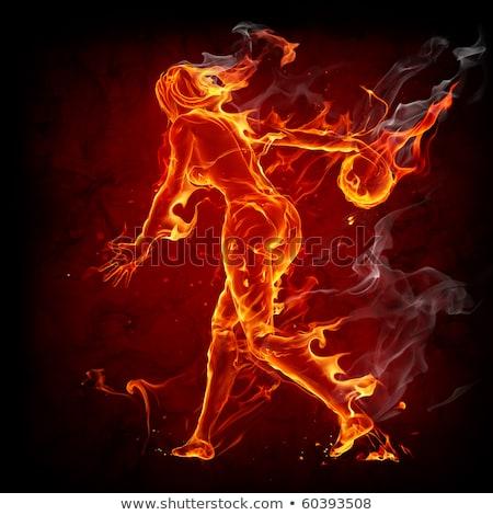 Bola de boliche fumar esportes vermelho sucesso Foto stock © cherezoff