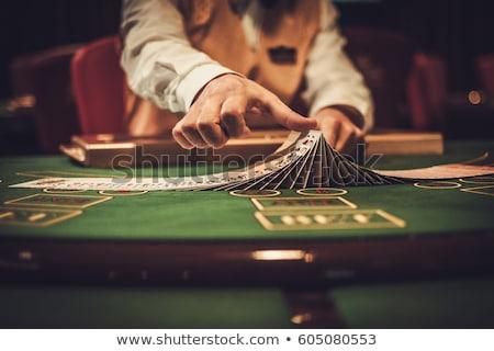 Gamble tavola casino divertimento rosso successo Foto d'archivio © Nejron