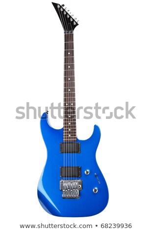 Mavi elektrogitar yalıtılmış beyaz gitar Metal Stok fotoğraf © PetrMalyshev