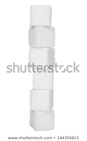 Stock photo: Stacked sugar cubes