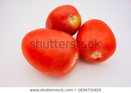 Orgânico vermelho tomates mesa de madeira rústico Foto stock © marimorena