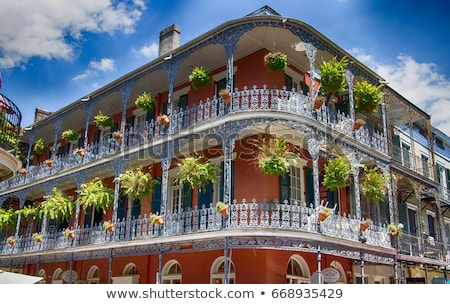 historic old buildings with iron balconies in french quarter stock photo © meinzahn