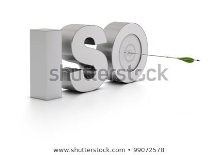 品質管理 ターゲット 3  赤 絞首刑 ストックフォト © tashatuvango