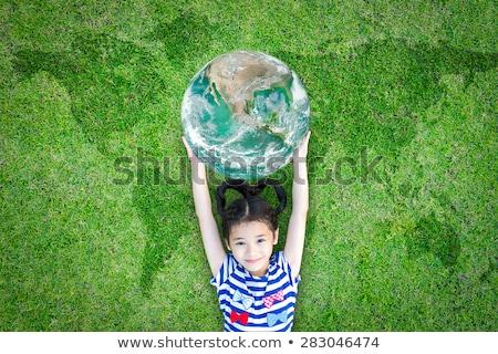 girl with eco world stock photo © adrenalina