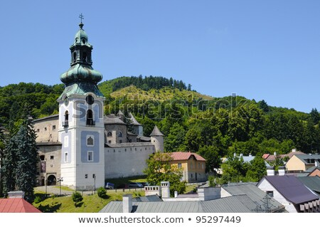Old castle in Stiavnica Stock photo © pocza