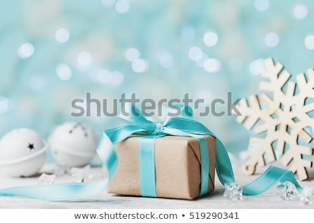 Stock photo: Silver Gift Box with Vintage Effect