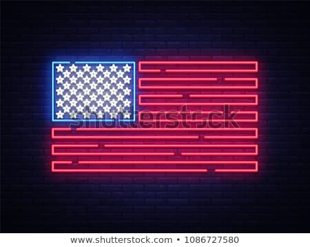 Beira da estrada metal rodas decorado estilizado bandeira americana Foto stock © Habman_18