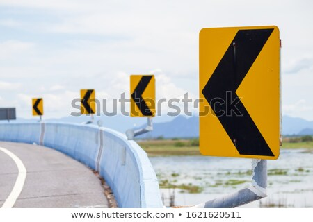 big boss on warning road sign stock photo © tashatuvango