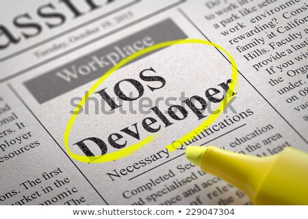 Stock photo: IOS Developer Vacancy in Newspaper.