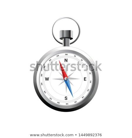 Compass silver stock photo © markbeckwith