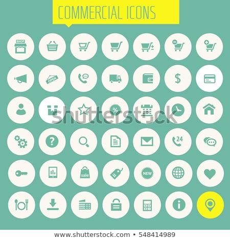 Kereskedelmi weboldal ikon gyűjtemény vektor zöld fényes Stock fotó © Mr_Vector
