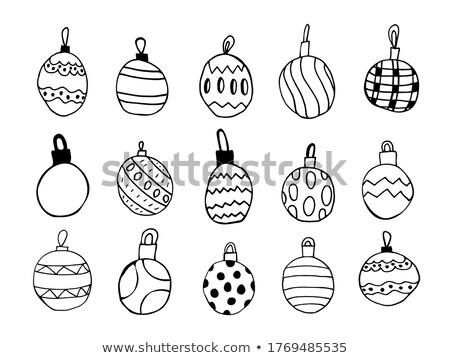 Different kinds of New Year's balls stock photo © aliaksandra