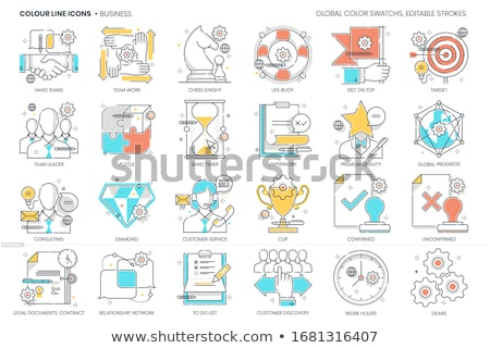 Diamond  chess pawn, vector illustration Stock photo © carodi