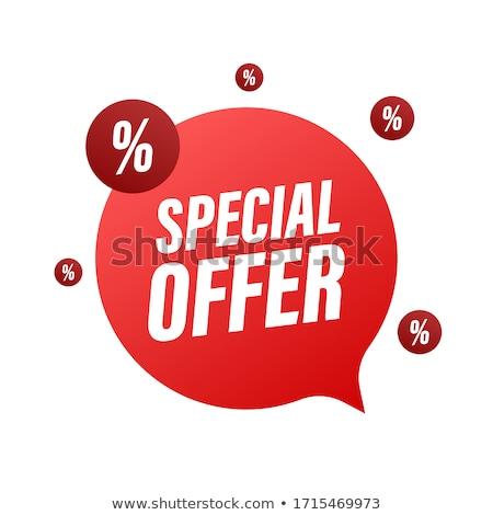 top offer green vector icon design stock photo © rizwanali3d