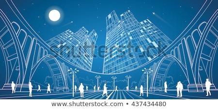 Legjobb építészet hátterek érdekes építészeti egyedi Stock fotó © ylivdesign