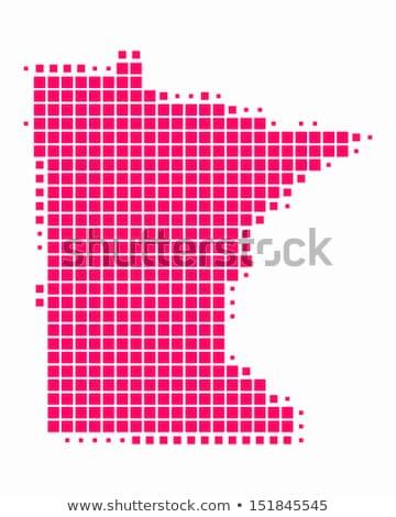 Térkép USA Minnesota pont minta vektor Stock fotó © Istanbul2009