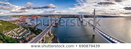 trilho · ponte · madrugada · famoso · estrada - foto stock © elxeneize