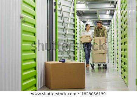 Armazenamento unidade armazenar compras edifício Foto stock © Dxinerz