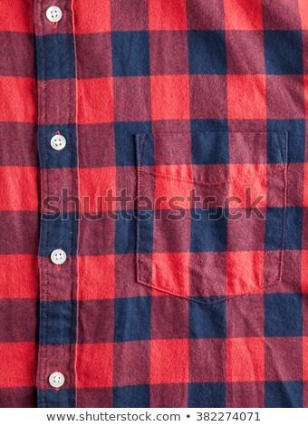 Red flannel shirt pocket Stock photo © njnightsky