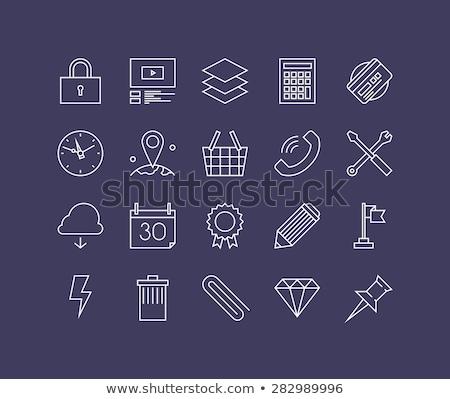 Egyszerű irodai asztal szükséges szerszám stock fotó Stock fotó © nalinratphi