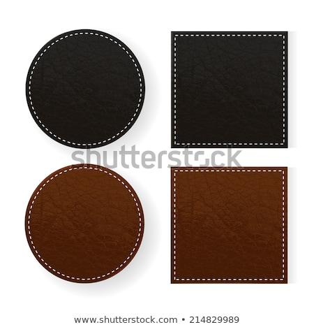 Bőr asztal poháralátét fekete izolált fehér Stock fotó © Taigi