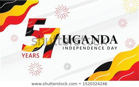 zászló · Uganda · térkép · vidék · gomb · politika - stock fotó © istanbul2009