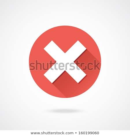 Close Icon. Delete Button. Flat Design. Long Shadow. Stock photo © WaD