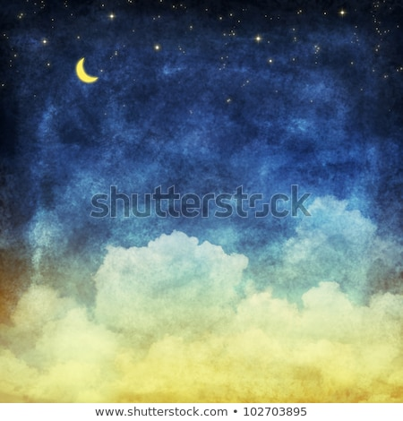 劇的な 夜空 絵画 水彩画 抽象的な 空 ストックフォト © kostins