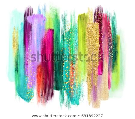 Paletta színek ecset izolált fehér festék Stock fotó © tetkoren