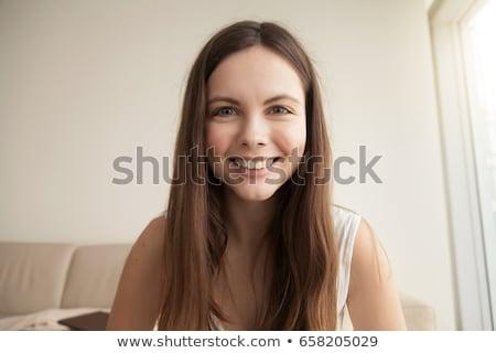 Belle femme regarder caméra portrait belle sexy Photo stock © oleanderstudio