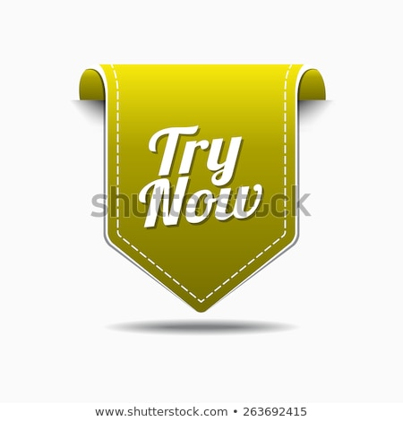 Ahora amarillo vector icono diseno digital Foto stock © rizwanali3d
