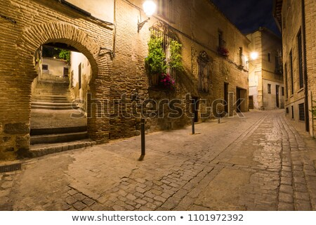 узкий улиц город Испания дома древних Сток-фото © backyardproductions