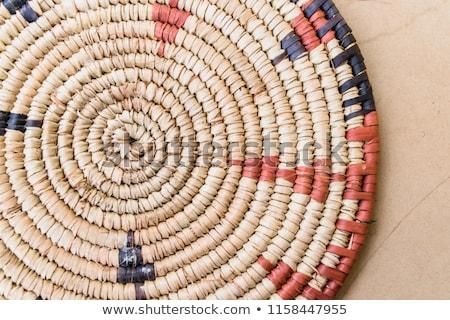 African traditional handcraft round baskets Stock photo © lunamarina