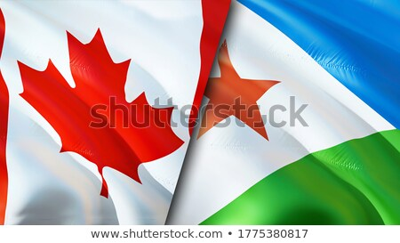 Canada and Djibouti Flags Stock photo © Istanbul2009