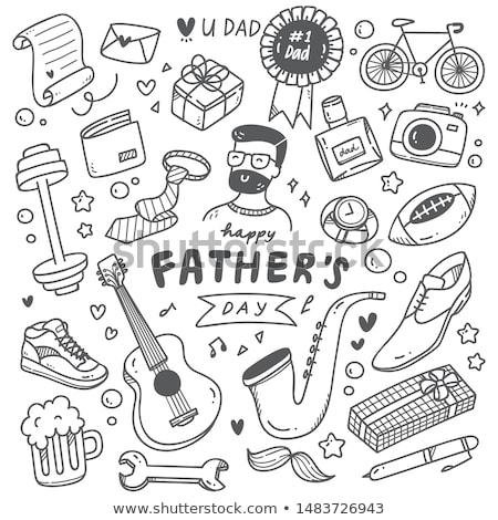 doodle man icon stock photo © pakete