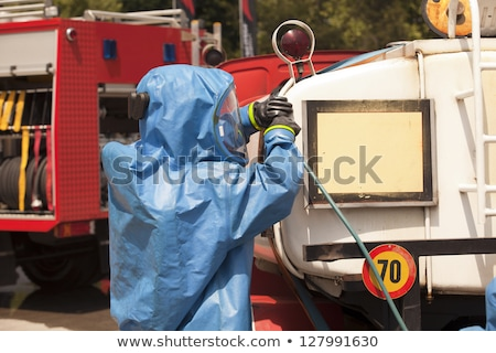 Simulation of a chemical accident Stock photo © wellphoto