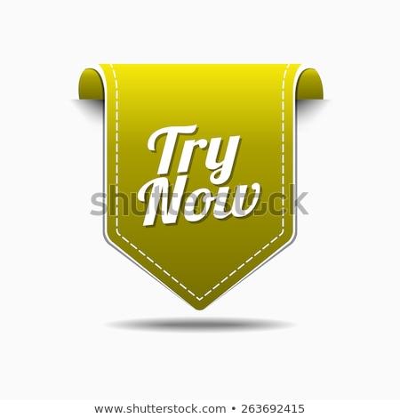 Try Now Yellow Vector Icon Design Stock photo © rizwanali3d
