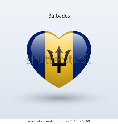 Barbados Heart flag icon Stock photo © netkov1