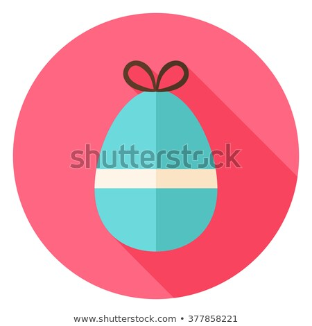 Easter Egg with Bow Knot Circle Icon Stock photo © Anna_leni