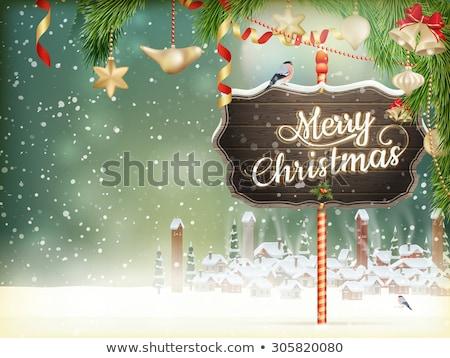 christmas scene village eps 10 stock photo © beholdereye