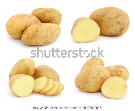 halved unpeeled potatoes stock photo © digifoodstock