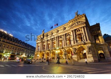 Stock fotó: Opera · ház · Párizs · éjszaka · építészet · részletek