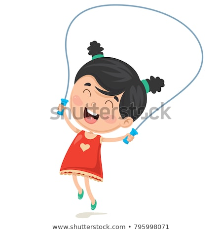 Girl with skipping rope Stock photo © bezikus