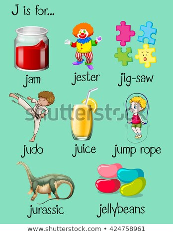 different words begin with letter j stock photo © bluering